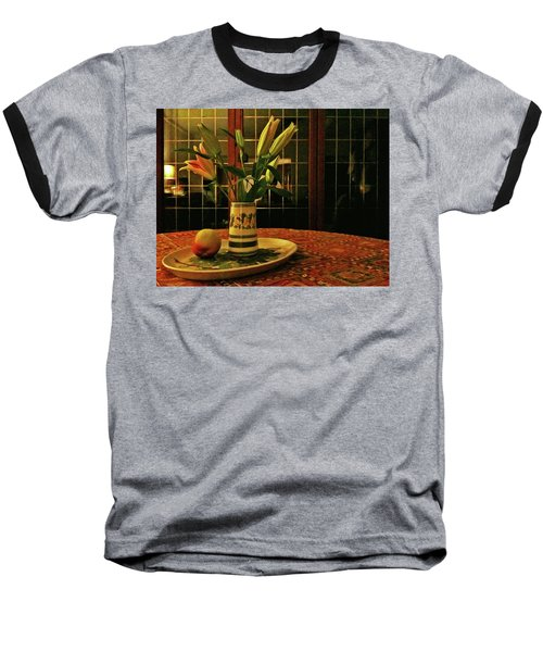Baseball T-Shirt featuring the photograph Still Life With Apple by Anne Kotan