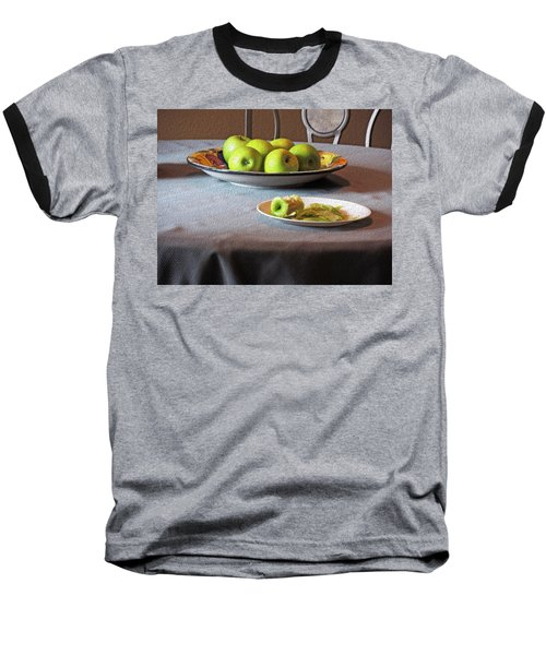 Still Life With Apples And Chair Baseball T-Shirt