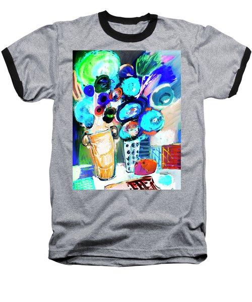 Still Life With Blue Flowers Baseball T-Shirt by Amara Dacer