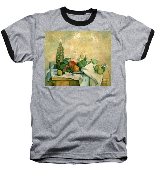 Still Life With Bottle Of Liqueur Baseball T-Shirt by Paul Cezanne