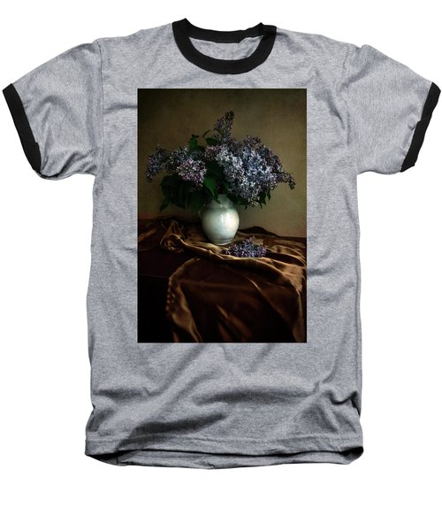 Baseball T-Shirt featuring the photograph Still Life With Bouqet Of Fresh Lilac by Jaroslaw Blaminsky