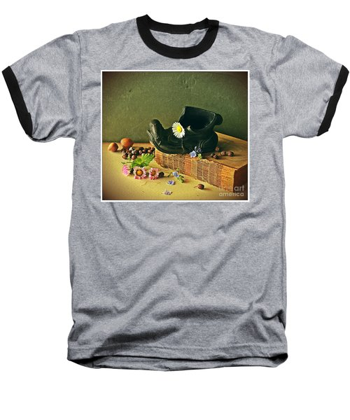 Still Life With Daises Baseball T-Shirt