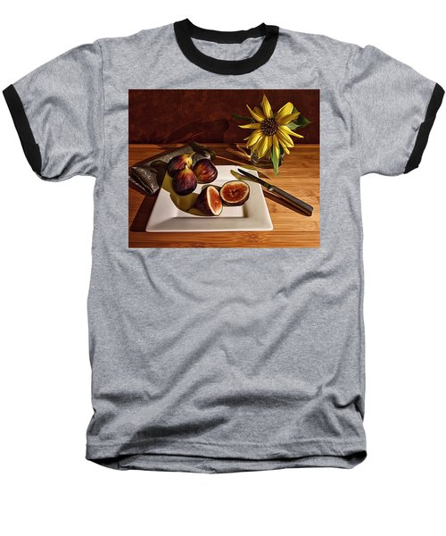 Still Life With Flower And Figs Baseball T-Shirt