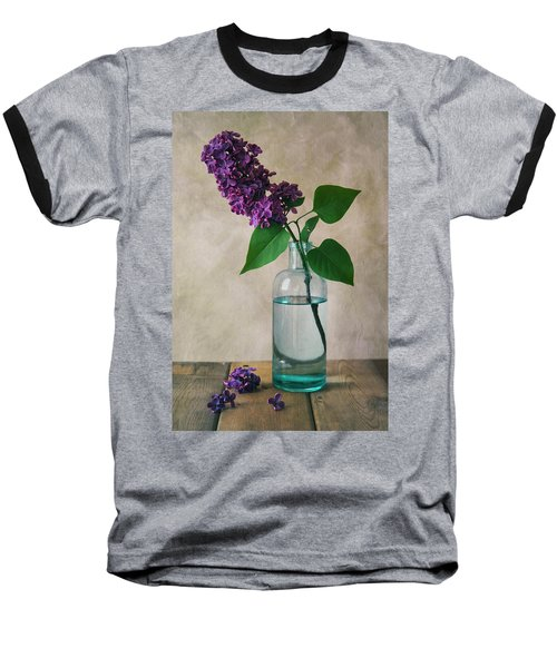 Baseball T-Shirt featuring the photograph Still Life With Fresh Lilac by Jaroslaw Blaminsky