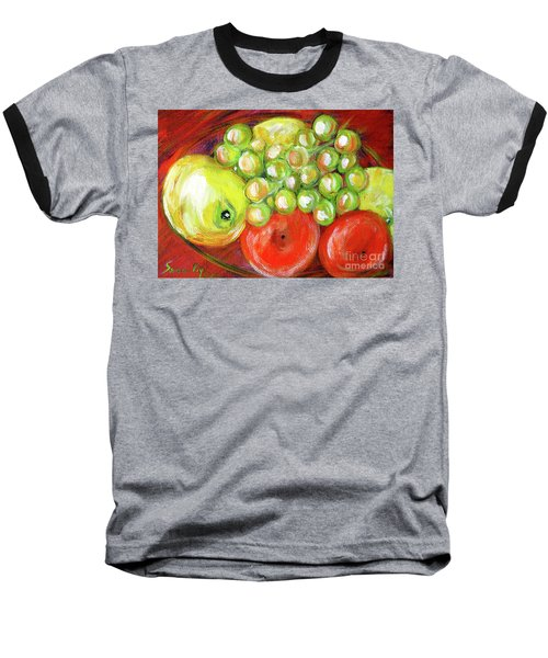 Still Life With Fruit. Painting Baseball T-Shirt