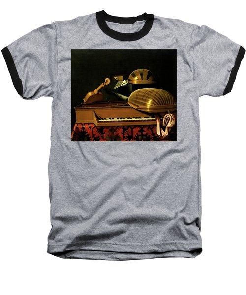 Still Life With Musical Instruments And Books Baseball T-Shirt