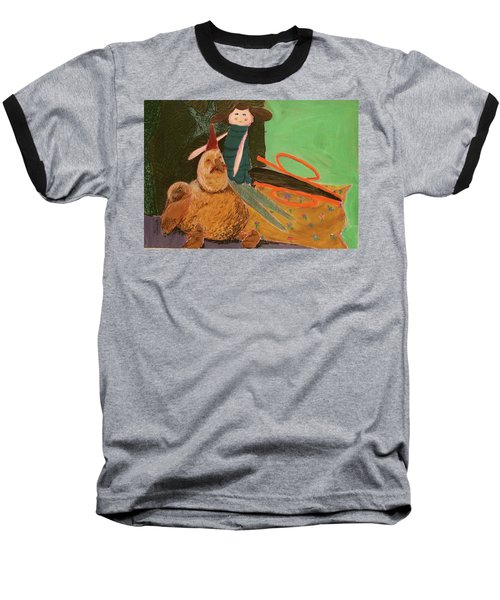 Baseball T-Shirt featuring the pastel Still Life With Old Toys by Manuela Constantin
