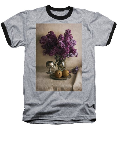 Baseball T-Shirt featuring the photograph Still Life With Pears And Fresh Lilac by Jaroslaw Blaminsky