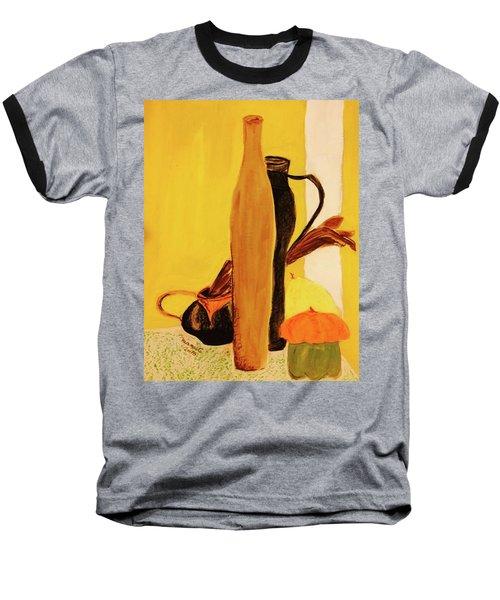 Still Life With Pumpkins  Baseball T-Shirt by Manuela Constantin