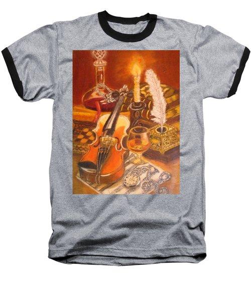 Still Life With Violin And Candle Baseball T-Shirt