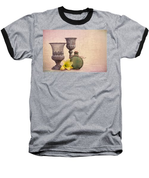 Baseball T-Shirt featuring the photograph Still Life With Yellow Lily by Tom Mc Nemar