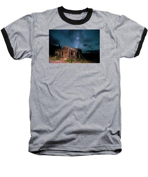 Still Night At Old Cabin Baseball T-Shirt