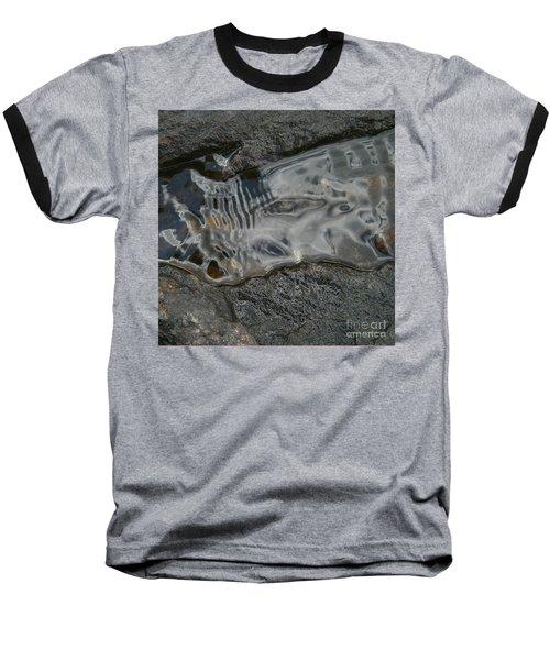 Still Stream Skeleton Screams Baseball T-Shirt by Carol Lynn Coronios