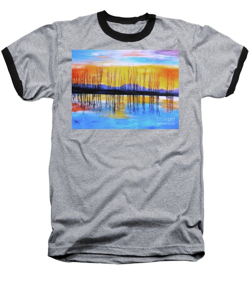 Still Waters From The Water Series  Baseball T-Shirt by Donna Dixon