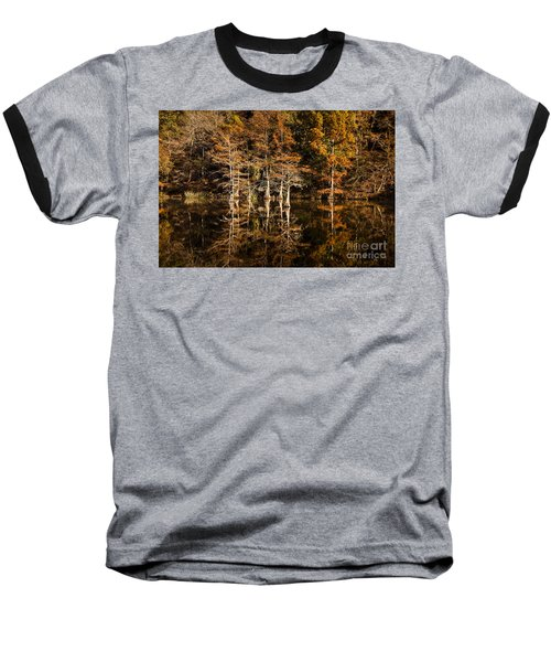 Baseball T-Shirt featuring the photograph Still Waters On Beaver's Bend by Tamyra Ayles