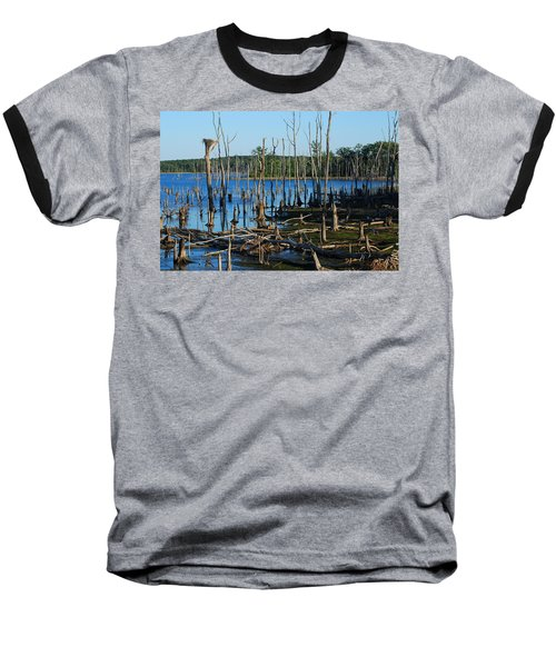 Still Wood - Manasquan Reservoir Baseball T-Shirt