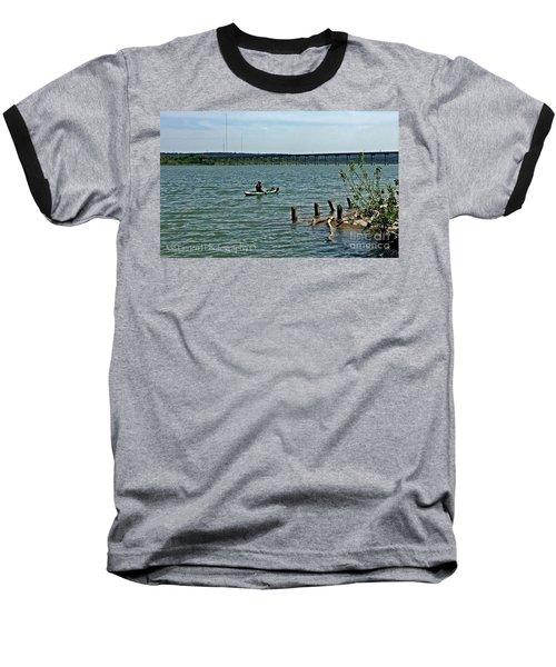 Baseball T-Shirt featuring the photograph Stillhouse Lake Canoe - No.2016 by Joe Finney