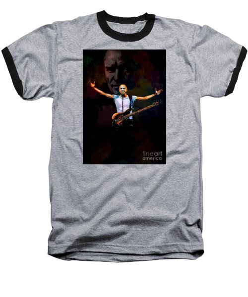 Baseball T-Shirt featuring the digital art Sting 1 by Andrzej Szczerski
