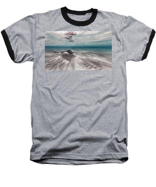 Stingray Across The Sand Baseball T-Shirt