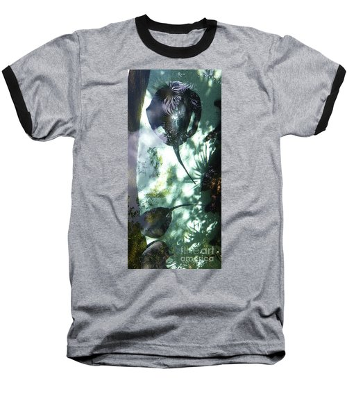 Baseball T-Shirt featuring the photograph Stingray Swim V by Francesca Mackenney