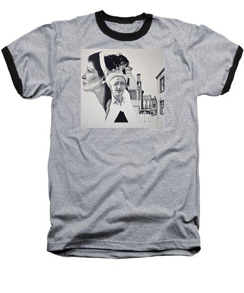 Stipple 2 --over The Hill Baseball T-Shirt