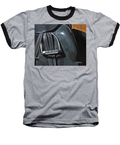 Baseball T-Shirt featuring the painting Stirrup by Roena King