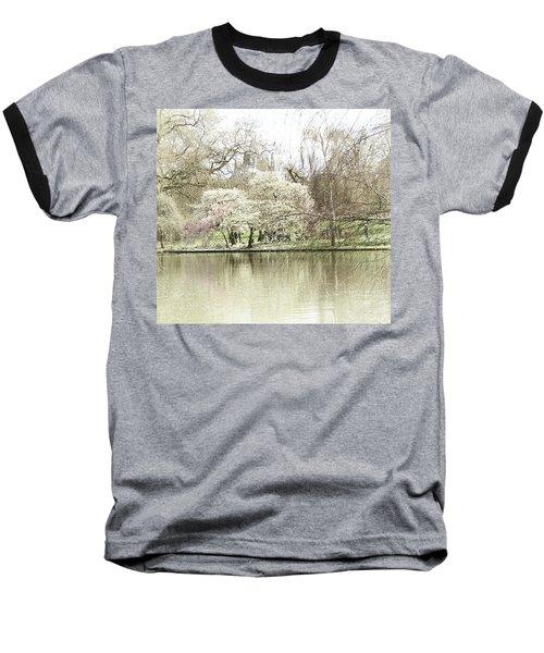 St. James Park London Baseball T-Shirt by Judi Saunders