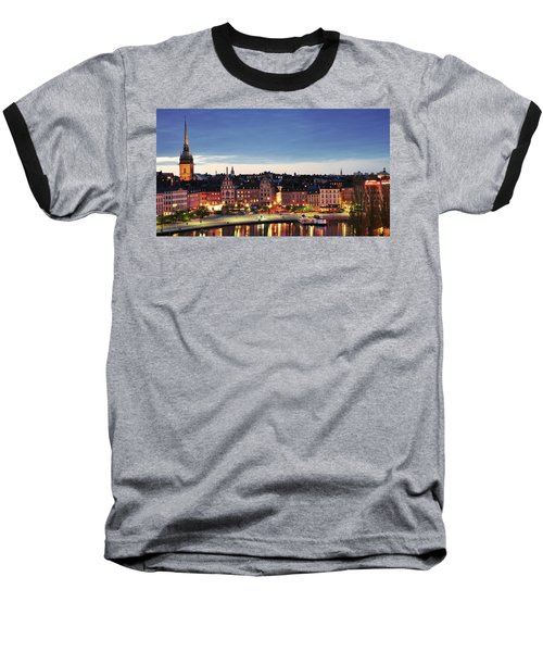 Stockholm By Night Baseball T-Shirt