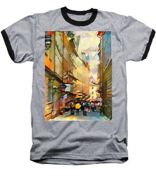 Stockholm Galmastan Town 9 Baseball T-Shirt
