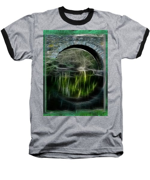 Baseball T-Shirt featuring the photograph Stone Arch Bridge - Ny by EricaMaxine  Price