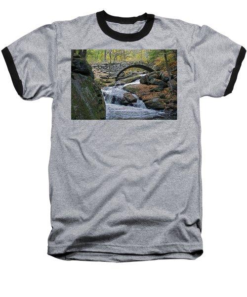 Stone Arch Bridge In Autumn Baseball T-Shirt