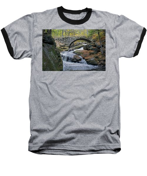 Stone Arch Bridge In Autumn Baseball T-Shirt
