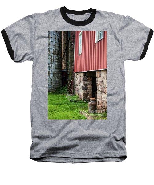 Stone Barn With Milk Can Baseball T-Shirt