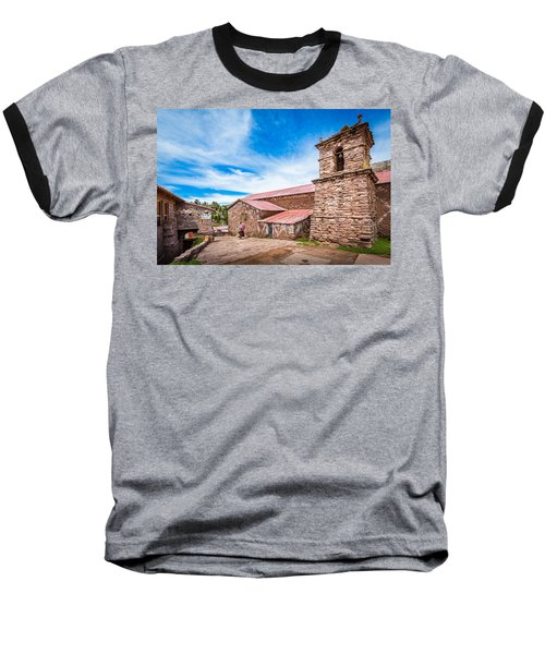 Stone Buildings Baseball T-Shirt
