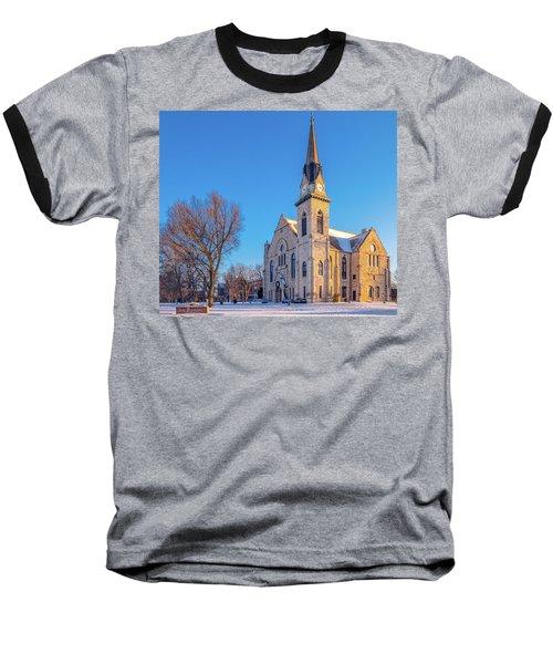 Stone Chapel In Winter Baseball T-Shirt