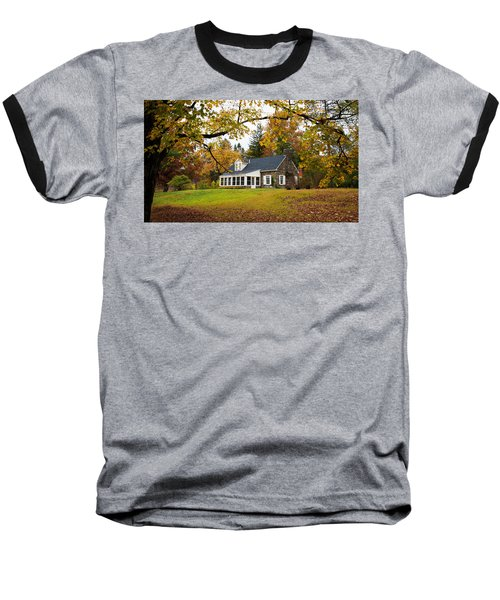 Stone Cottage In The Fall Baseball T-Shirt