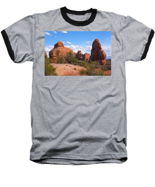Stone Gods 0f Arches Baseball T-Shirt by Angelo Marcialis