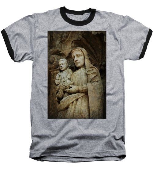 Stone Madonna And Child Baseball T-Shirt