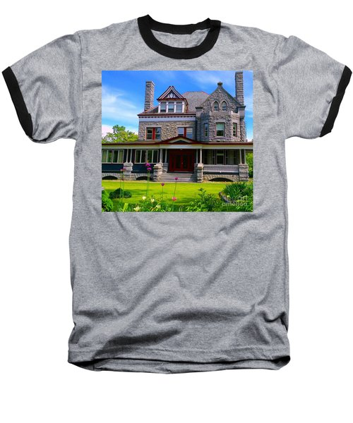 Baseball T-Shirt featuring the photograph Stone Mansion Garden by Becky Lupe