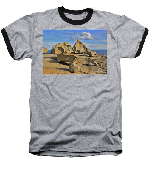 Baseball T-Shirt featuring the photograph Stone Sculpture by Stephen Mitchell