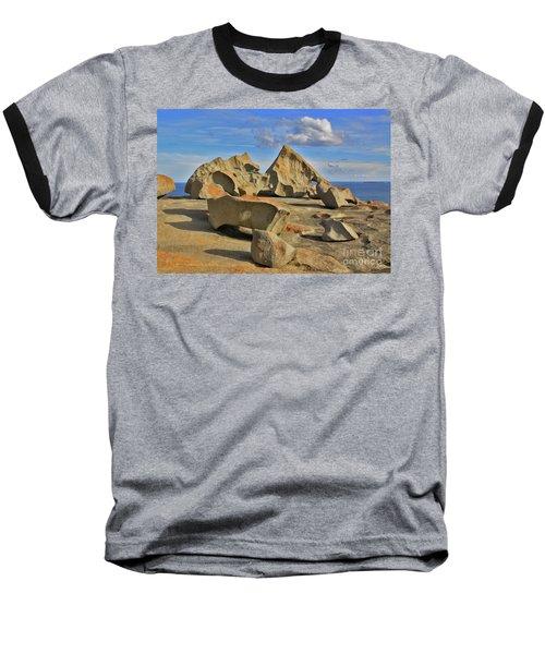 Stone Sculpture Baseball T-Shirt by Stephen Mitchell