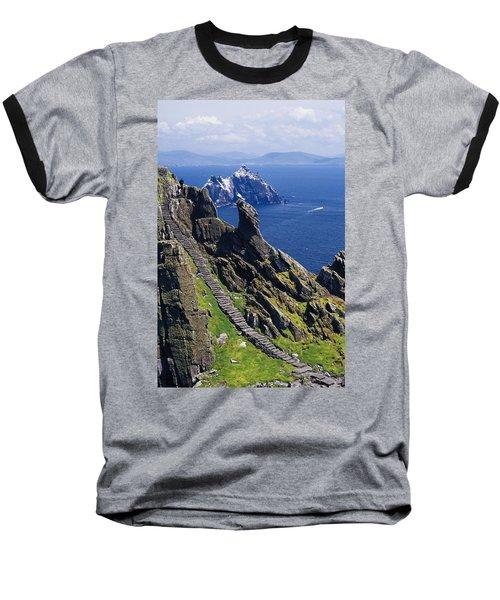 Stone Stairway, Skellig Michael Baseball T-Shirt