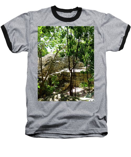 Baseball T-Shirt featuring the photograph Stone Steps In The Jungle by Francesca Mackenney
