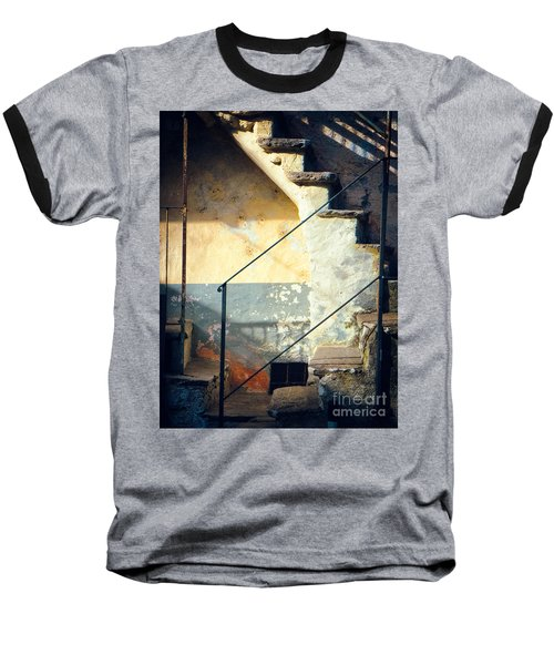 Baseball T-Shirt featuring the photograph Stone Steps Outside An Old House by Silvia Ganora
