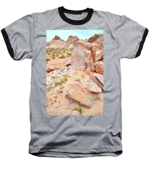 Baseball T-Shirt featuring the photograph Stone Tablet In Valley Of Fire by Ray Mathis