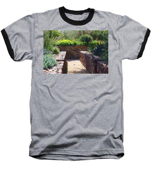 Stone Walkway Baseball T-Shirt by Kathryn Meyer