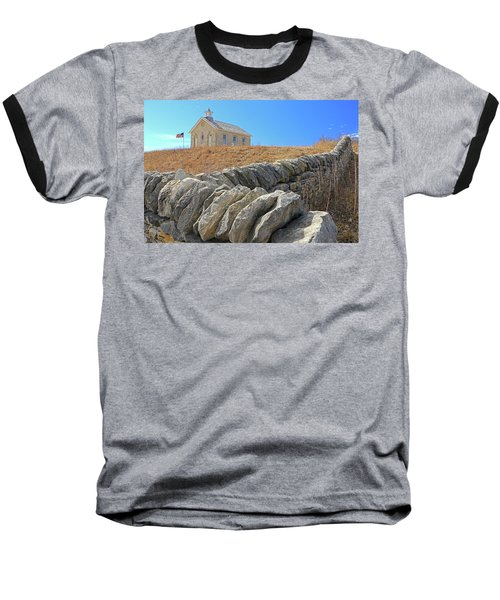 Stone Wall Education Baseball T-Shirt by Christopher McKenzie