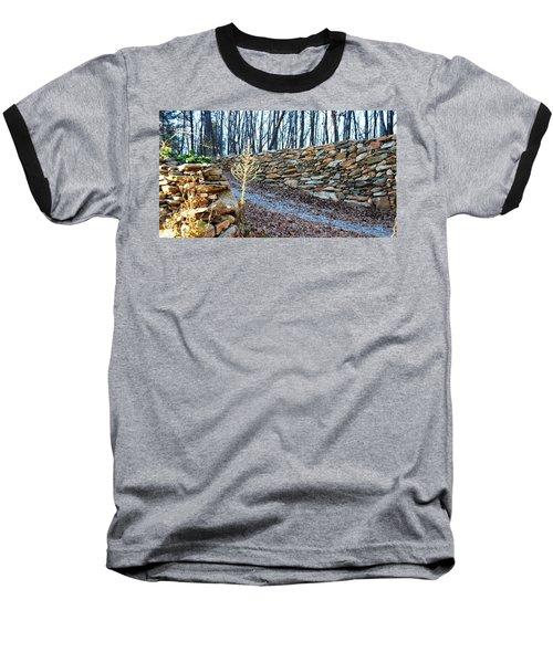 Stone Wall Ga Mountain 1 Baseball T-Shirt by Angela Murray