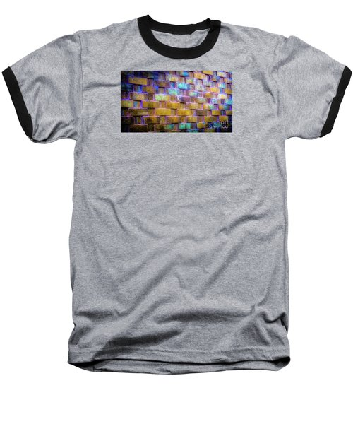 Brick Wall In Abstract 499 Baseball T-Shirt