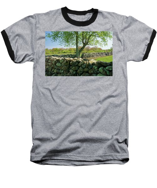 Stone Wall In Rhode Island Baseball T-Shirt